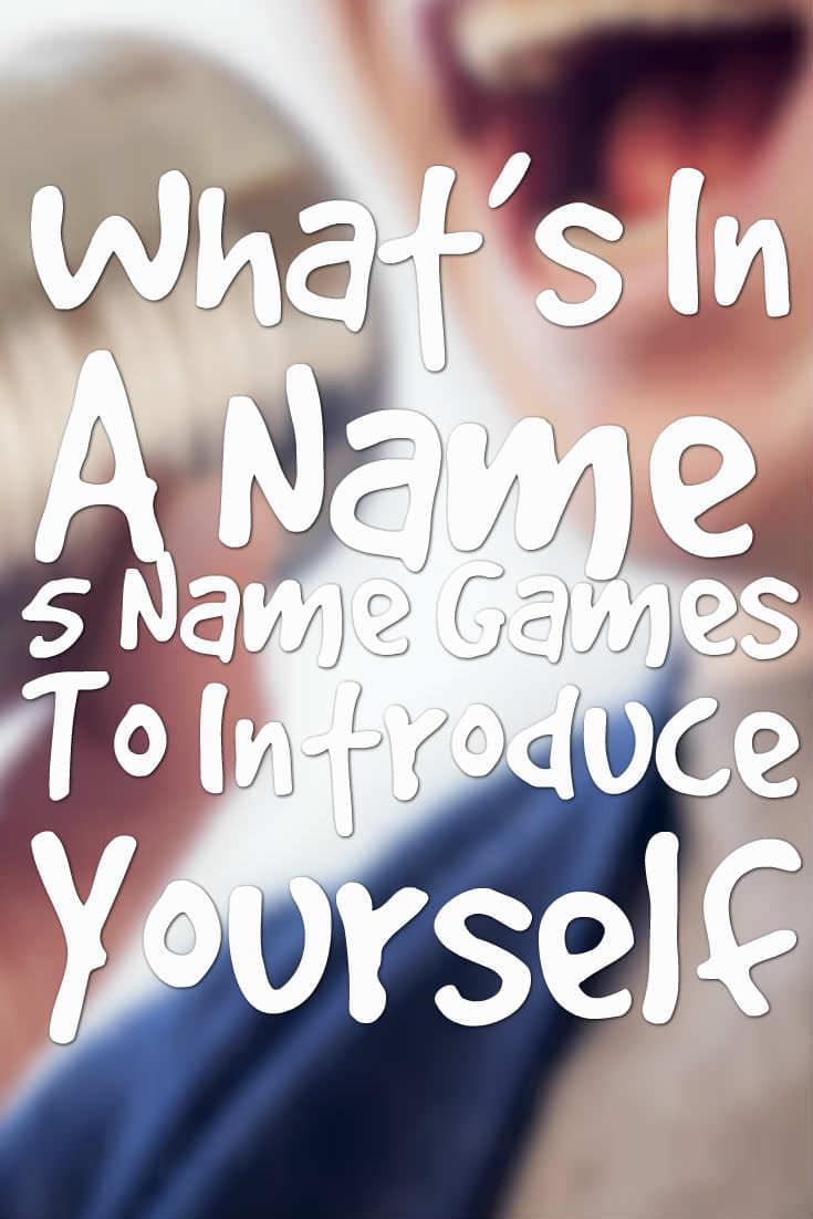 fun name games icebreaker