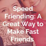speed friending icebreaker