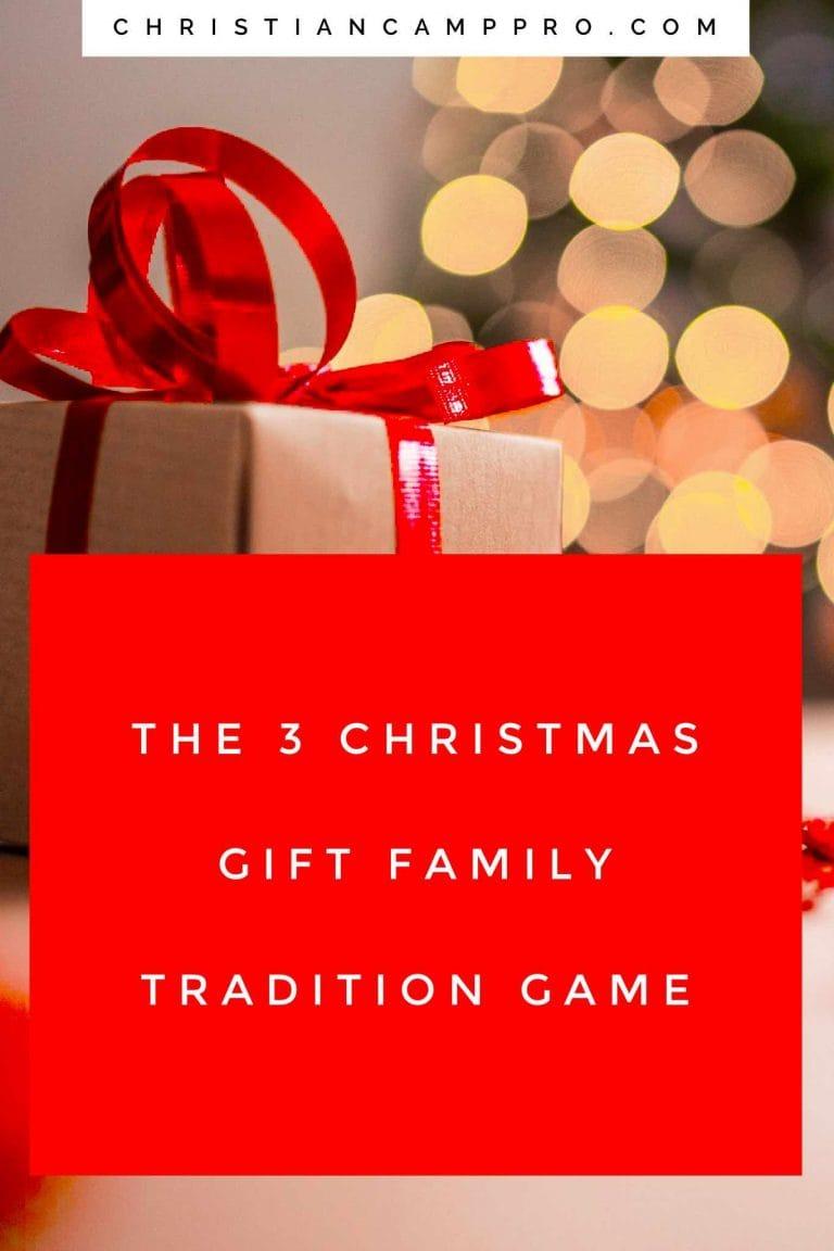 3 Christmas Gift Family Tradition Game